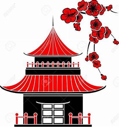 Clipart Dessin Maison Japanese Japan Japonaise Chinese