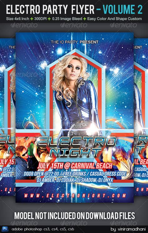 Download Graphicriver Electro Dj Party Flyer Template 6502526 by Print Template Graphicriver Electro Party Flyer Volume 2