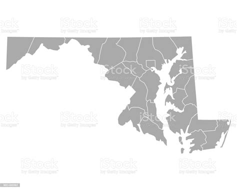 Check out our maryland svg selection for the very best in unique or custom, handmade pieces from our digital shops. Map Of Maryland Stock Vector Art & More Images of ...