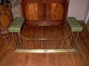 fender seats fireplace antique brass fireplace fender with leather seats ebay