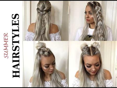 super easy summer hairstyles schnelle und einfache sommer