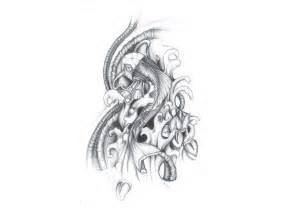Koi Fish Tattoo Sketch