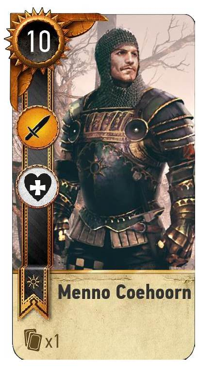 Gwent Witcher Card Menno Coehoorn Face Monster