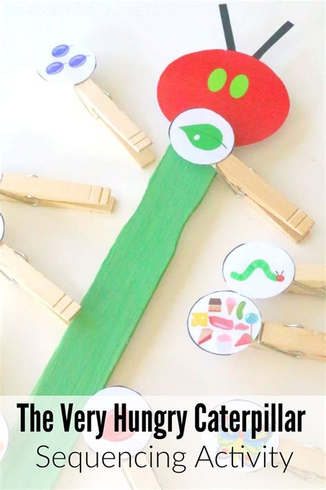 school time snippets hungry caterpillar storybook 889 | 5efa75bb3ac36b2d7524d45062dce706 preschool themes preschool activities eric carle
