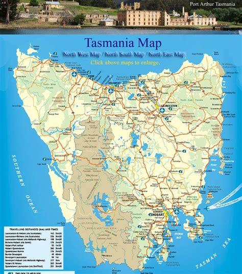 road map  tasmania compressportnederland