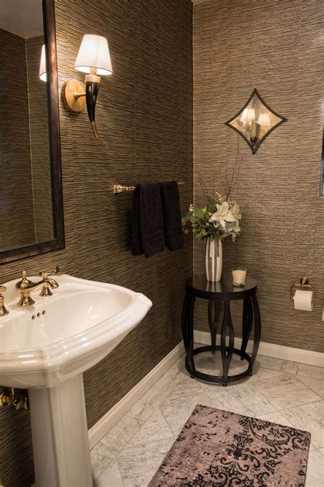 classic contemporary bathroom  wallpaper hgtv