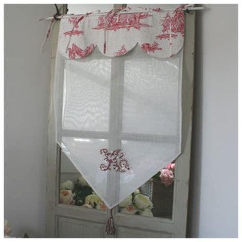 brise bise rideau toile de jouy et cantonniere d 233 co cosy 60 cm