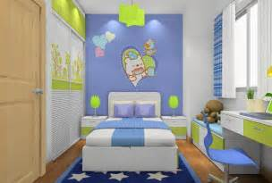 green cartoon children room furniture sets 3d house