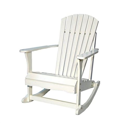 international concepts adirondack porch rocker in white