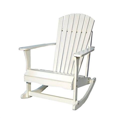 adirondack chairs cushions target international concepts adirondack porch rocker in white