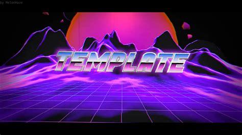 vaporwave blender intro template  blender