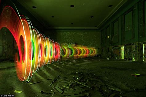 Pictured The Incredible Light Graffiti Created As A Host
