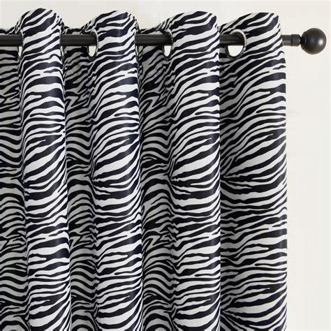 black and white zebra print curtain for living room