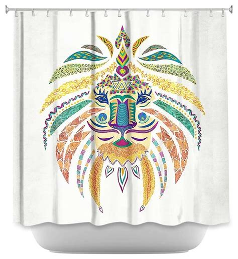 shower curtain pom graphic whimsical contemporary