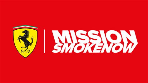 ferrari sign  sponsor mission smokenow
