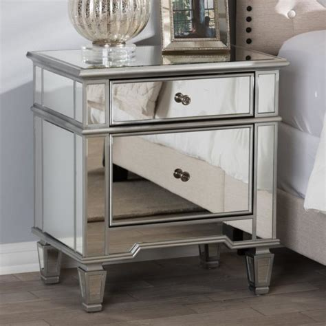Colored Nightstands by Mirrored Nightstands 10 Cheap Options Polished Habitat