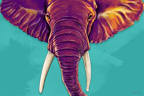 Maxwell Dickson 'elephant In The Room' Modern Canvas Wall
