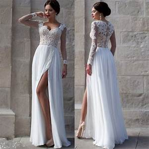 white wedding dresseslong sleeves wedding gownlace With long white wedding dresses