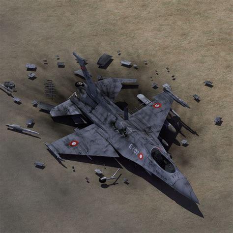 3ds Max F16 Fighter Crash Site