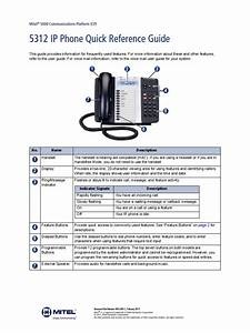 Mitel 5312 Ip Phone Quick Reference Guide