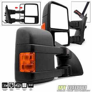 L R 1999 F350 Super Duty Power Heated Signal Towing Side Mirrors