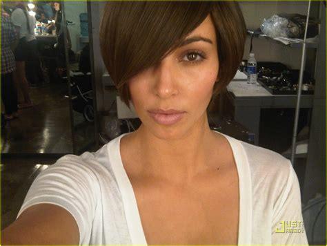 kim kardashian sports super short hair photo 1978571