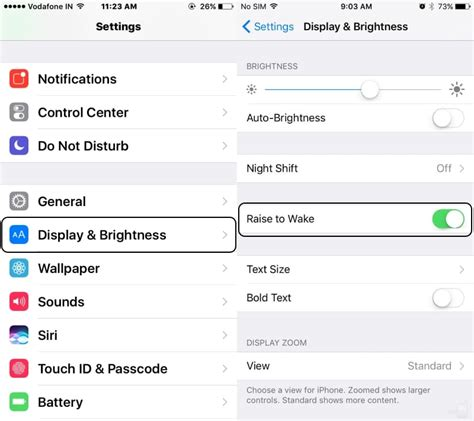 how to enable disable raise to wake in ios 11 ios 10 iphone