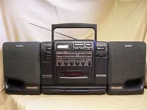 Radio Cd Kassette : sony cfd 535 portable stereo cd boombox cassette am fm ~ Jslefanu.com Haus und Dekorationen