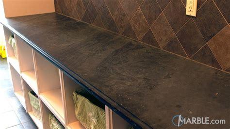 black cleft slate laundry room countertop