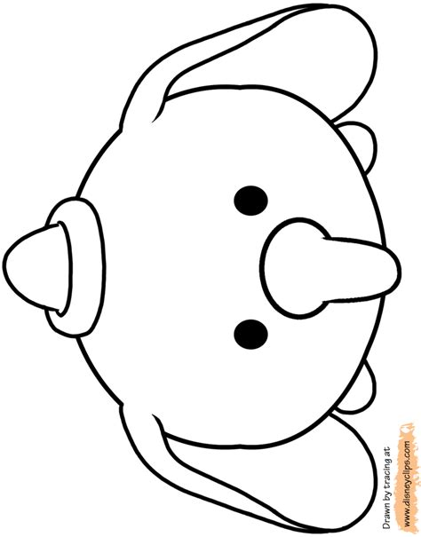 dibujos  colorear de tsum tsum top coloring pages