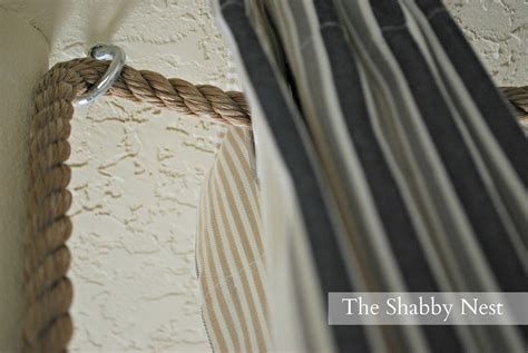 the shabby nest an ingenious way to hang curtains