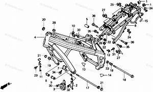 Honda Motorcycle 1988 Oem Parts Diagram For Frame