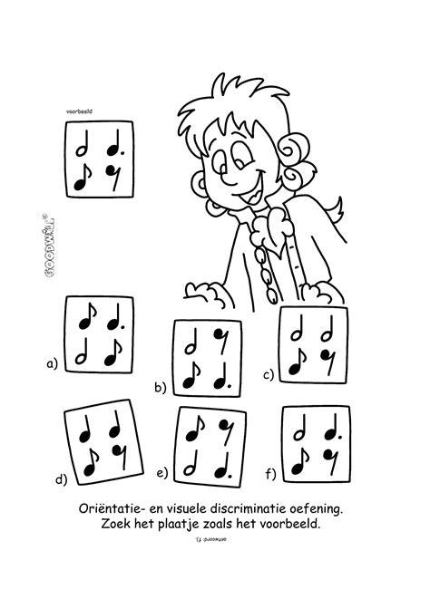 Puzzel Kleurplaat by Muziek Puzzel Muziek Kleurplaten En Puzzels Muziek En