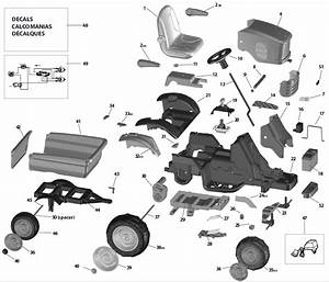 Peg Perego John Deere Turf Tractor Parts