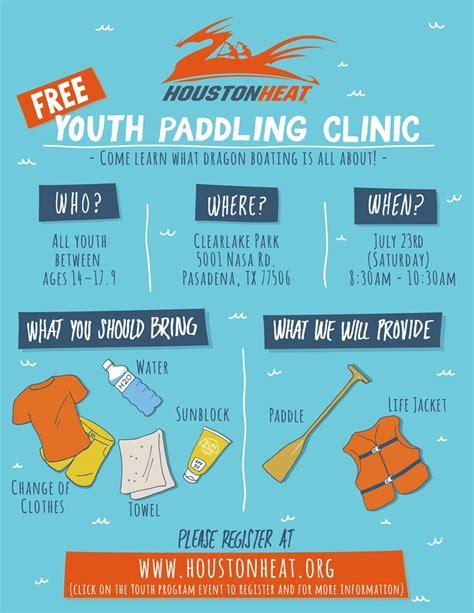 Boat Paddling Houston by Houston Heat S 3rd Boat Youth Paddling Clinic