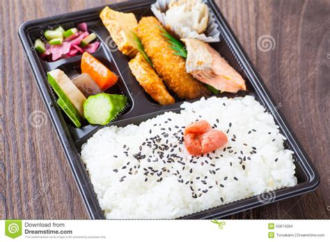 cuisine bento japanese cuisine a single portion takeout stock photo