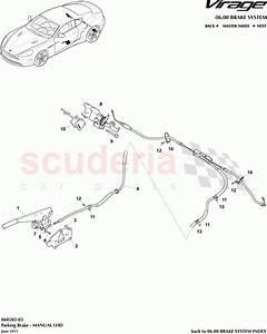 Aston Martin Virage Parking Brake  Manual   Lhd  Parts