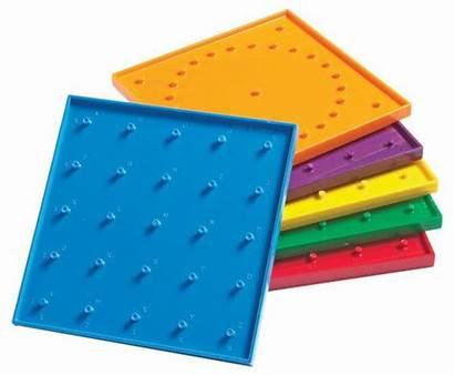 Geoboard Geo Clipart Clip Rubber Printable Boards