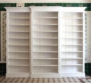 Regalwand Mit Türen : b cherregal wei lasiert massivholz erle 250x280x35cm ebay ~ Indierocktalk.com Haus und Dekorationen