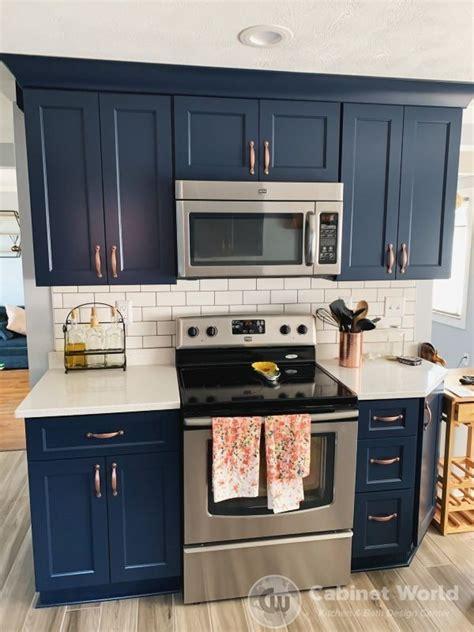 navy kitchen design  kristen murphy cabinet world  pa