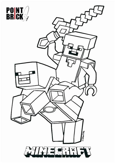 Minecraft Steve Coloring Page Best Of Minecraft Coloring ...