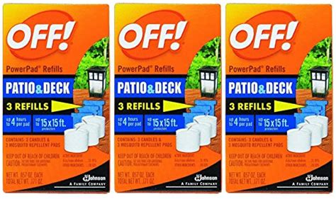 off l lantern powerpad refills patio deck mosquito
