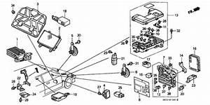 Oem 1989 Honda Civic Hatchback Fuse Box - Relay
