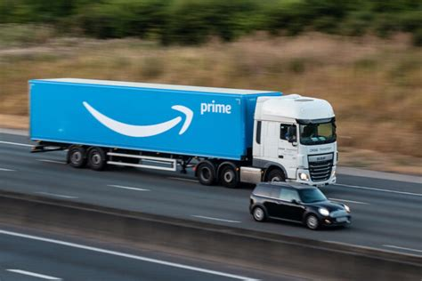prime amazon truck delivery lorry driver istock motion freight crash ground companies into causing worked strike experiencing delays due covid