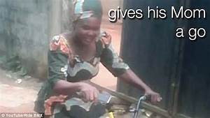 Nigerian BMX fan opens a surprise package from the UK with ...