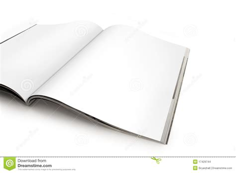 open magazine spread open magazine spread with blank pages stock photo image