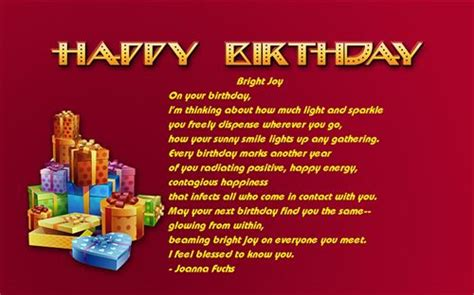 famous birthday quotes  poems quotesgram