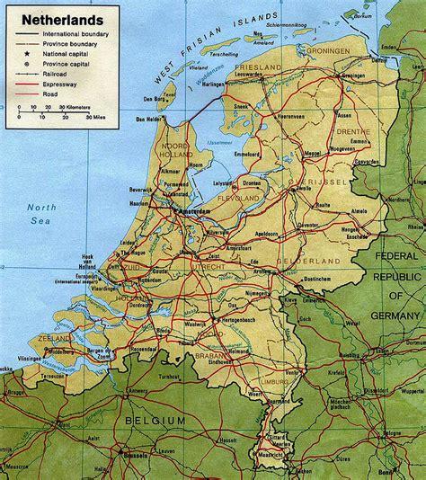 Olanda Harta politica, harti politice Olanda   Harta Online