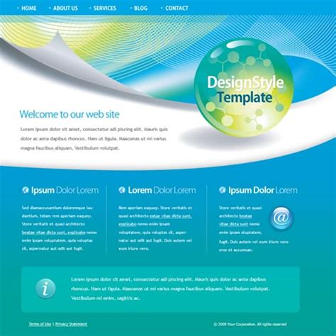 Web Templates Web Template 4452 Stylishtemplate