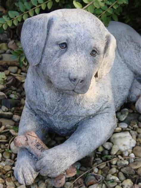 Garten Deko Hund by Hund Labrador Steinfigur Gartenfigur Frostfester Steinguss